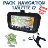 Tablette tactile étanche et antichocs GPS GLOBE X7 Pack Navigation SSV