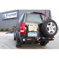 Support jerrycan arrière gauche KAYMAR pour pare-choc KAYMAR LR Discovery III et IV