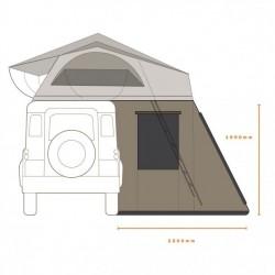 Annexe hauteur 165 pour tente de toit australienne DARCHE HI VIEW 180