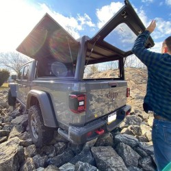 Hard-top aluminium Explorer Noir Jeep Gladiator • Finition Hard Top : Parois Lisses
