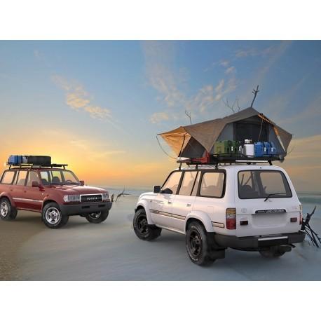 Galerie FRONT RUNNER Slimline II 1345 x 1358 mm Gutter Mount Haute pour Toyota Land Cruiser 80