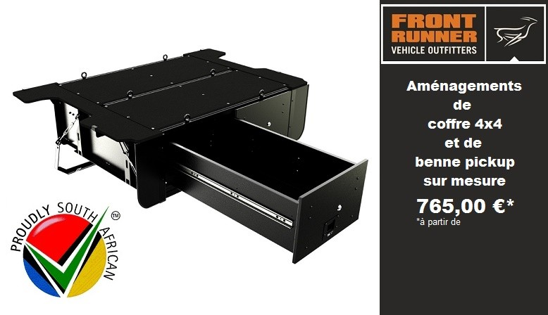 FRONT RUNNER Aménagements de coffre 4x4 et de benne pickup sur mesure