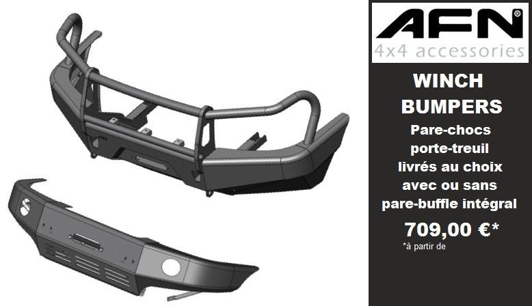 AFN pare-chocs renforcés pour 4x4 et pickup avec platine treuil intégrée